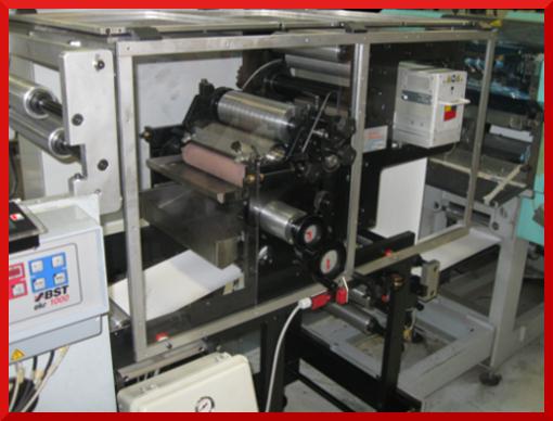 Flexo printing on adhesive