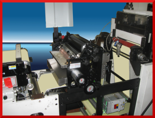 Flexo on inspection machine