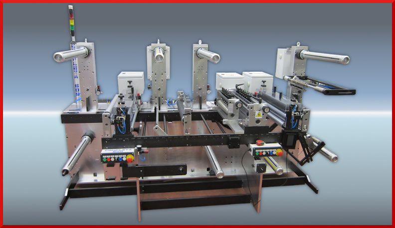 Completa machine for couples and slitting double adhesives - De Rossi Vittoriano Srl